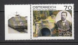 2013 Autriche Neuf ** N° 2893 Transport : Train : Pont : Julius Lott - 1945-.... 2ème République