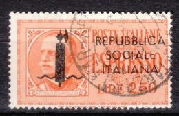 1944 Espresso Lire 2,50 Usato - 4. 1944-45 Repubblica Sociale