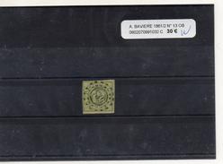 ALLEMAGNE BAVIERE 1861 / 2 N° 13 OBLITERE - Bavière
