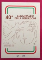 SANREMO 40 ANNIVERSARIO RESISTENZA CARTOLINA ED ANNULLO SPECIALE IN DATA 7/12/1985 - Eventi
