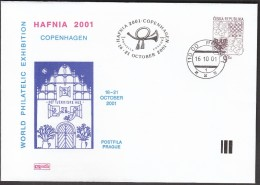 Czech Republic Prague 2001 / World Philatelic Exhibition HAFNIA 2001 Copenhagen - Briefmarkenausstellungen