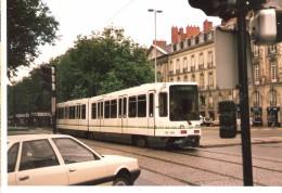 Photo Originale-France-Nantes-TAN-Tram-Tramway-ligne Belleville-TRW M2 308-1987 13x8,8cm - Trains