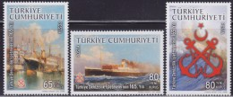 LR84. Turkey, 2008, Turkish Maritime Business - Ships, MNH (**) - 1921-... Republic