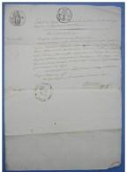 Agen 1803 Copie D'un Acte De Naissance De Foi Sabatier Du 15 Germinal An 11, Cachets Divers - Manuskripte