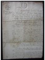 1819 La Roche Posay, Partage De La Succession Rouger (bunelle) - Manuskripte