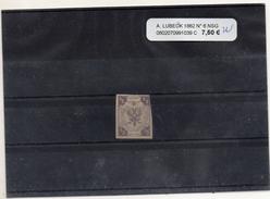 ALLEMAGNE LUBECK 1862 N° 6 NEUF SANS GOMME - Luebeck