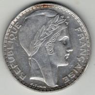 . FRANCE . 20  FRANCS . 1934 . ARGENT ? - France