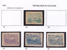 RUSSIE 1919 CAUCASE 18 21 A 23 MH