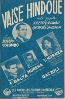 Partition De  Joseph COLOMBO Yvette HORNER F. BALTA MURENA  - Valse Hindoue - Musik & Instrumente