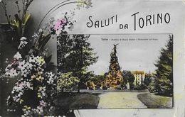 Saluti Da Torino - Giardino Di Piazza Statuto E Monumento Del Frejus - Parcs & Jardins