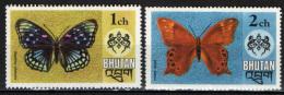 BHUTAN - 1975 - FARFALLE VARIOPINTE - BUTTERFLIES - NUOVI MNH - Bhutan