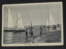 RIMINI - Igea Marina - Vita Balneare - Barche A Vela - 1951 - Rimini