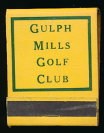 Pochette D'allumettes : Gulph Mills Golf Club,  King Of Prussia, Pennsylvanie, Etats-Unis (3 Scans) - Other