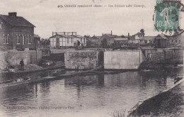 CPA  De  CHAUNY  (02)  -  Vue Des Ecluses (côté Chauny)     //  TBE - Chauny