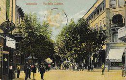 Ventimiglia - Via Della Stazione - Animata - Ed. G. Troglio - Imperia