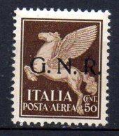1944 Repubblica Sociale GNR Aerea N. 118 Nuovo MLH* - 1944-45 Sociale Republiek