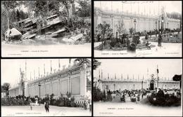 87. HAUTE-VIENNE - LIMOGES. 4 CP De L'EXPOSITION De 1903 Au Champ De Juillet. Les Jardins Et De La Cascade. [2 Scans] - Limoges