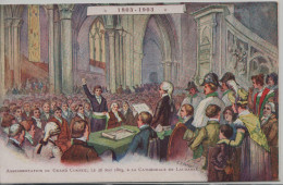 LAUSANNE - ASSERMENTATION DU GRAND CONSEIL A LA CATHEDRALE LE 24 MAI 1803-1903 - VD Vaud