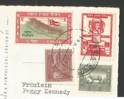 NEPAL Swiss Dhaulagiri Expedition Himalaya Stamps ! 1960 - Arrampicata