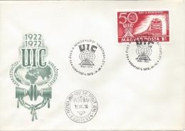 HUNGARY - 1972.FDC V. - 50th Anniversary Of International Railroad Union Congress/Train III. - FDC