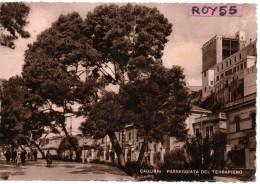 Sardegna-cagliari Passeggiata Del Terrapieno Animata Veduta Particolare Anni/50 - Cagliari