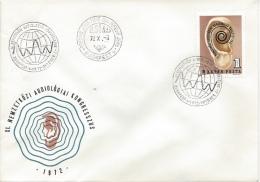 HUNGARY - 1972. FDC II.- 11th Intl.Audiology Congress / The Earth´s Ear By Amerigo Tot  Mi:2811. - FDC