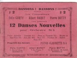 Partition De Musique - 12 Danses  Pour Orchestre - Piston Clarinette - Livres, BD, Revues