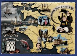29 Les Côtes De Cornouaille ; Divers Petites Vues Et Forme Du Finistère - Le Pouldu