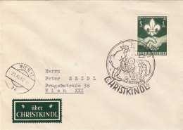 ÖSTERREICH 1962 - 1,5 S Sondermarke Auf Brief Mit CHRISTKINDL Stempel + Marke - Marcofilia - EMA ( Maquina De Huellas A Franquear)