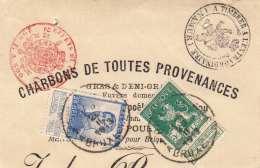 BELGIEN 1913 - 5 + 25 C Expomarken Auf Briefstück CHARBONS DE TOUTES PROVENANCES, Sonderstempel - Ohne Zuordnung