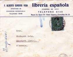 VENEZUELA 190? - 7 1/2 Centavos Auf Firmenbrief, Rückseitig Mit 1 C Spendemarke - Venezuela