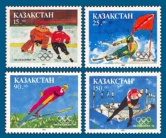 Kazakhstan 1994 Mih. 37/40 Olympic Winter Games In Lillehammer. Hockey. Alpine Skiing. Speed Skating MNH ** - Kazachstan