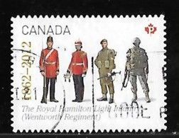 CANADA  2012,USED #2579,  THE REGIMENTS: THE ROYAL HAMILTON LIGHT INFANTRY,  USED - Carnets
