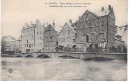 MEAUX - Inondations Des 25.26 Et 27 Janvier 1910 -  Vieux Moulins Et Pont Du Marché - Meaux