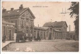 59 - MAUBEUGE - La Gare - Voiture à Chien - Maubeuge