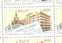 Brésil - 1991 - Centenaire Du Journal Jornal Do Brasil - N° Yvert 2015 - MNH/neuf  TBE DIARIO PERIODICO PERIODISMO - Profesiones