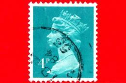 GB  UK GRAN BRETAGNA - Usato - 1980 - Decimal - Regina Elisabetta - 4 P - Usati
