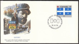 Canada Ottawa 1979 / Canadian Flags / Provinces / Quebec - Sobre Primer Día (FDC)
