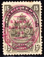 Haiti 1906 15c Coat Of Arms FORTES Overprint Inverted. Scott 121. MH. - Haiti