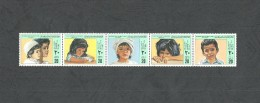1982- Libya-  Palestinian Children´s Day -Strip Of 5 Stamps MNH** - Libya