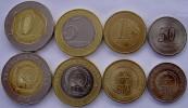 ANGOLA 2012 SERIE 4 MONETE CON 2 BIMETALLICHE 10-5-1-KWANZAS 50 CENTIMO FDC - Angola
