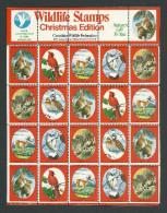 B35-06 CANADA Canadian Wildlife Federation Xmas Seals Sheet 1978 MNH - Local, Strike, Seals & Cinderellas
