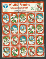 B35-07 CANADA Canadian Wildlife Federation Xmas Seals Sheet 1979 MNH - Local, Strike, Seals & Cinderellas