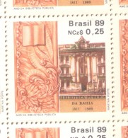 BRASIL BRESIL BRAZIL - YVERT NR. 1905 AÑO 1989 - ANNEE DE LA BIBLIOTHEQUE PUBLIQUE TBE MNH - Nuovi