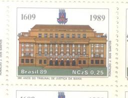 BRASIL BRESIL BRAZIL - YVERT NR. 1904 AÑO 1989 - 380 ANNIVERSAIRE DU TRIBUNAL DE JUSTICE DE L´ETAT DE LA BAHIA - FORUM R