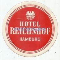 37836 GERMANY HAMBURG HOTEL REICHSHOF LUGGAGE NO POSTAL POSTCARD - Hotel Labels