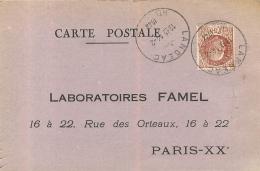 PARIS XX LABORATOIRES FAMEL 16 A 22 RUE DES  ORTEAUX - Arrondissement: 20