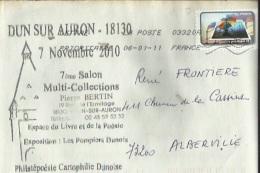 Enveloppe Timbrée Du 7e Salon Multicollection A Dun-sur-Auron 18 Le 7-11-2010 - Poststempel (Briefe)
