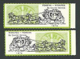 B35-31 CANADA-USA Winnipeg Pembina Bileski Local Post 1976 MNH - Local, Strike, Seals & Cinderellas