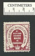 B35-36 CANADA 1905 Patriotic Beaver Keep Your Money Stamp MNH 3b - Local, Strike, Seals & Cinderellas